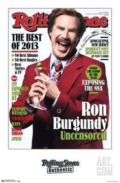Ron Burgundy Rolling Stone Cover Poster at Art.com