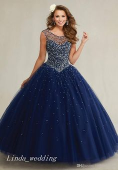 Gorgeous Navy Blue Mint Green Cream Long Masquerade Quinceanera Dresses Prom Dress Special Occasion Dress Evening Party Dress Women Wear