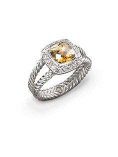 25e541812e4f David Yurman - Petite Albion Ring with Citrine and Diamonds