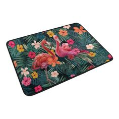 "Color Painted Floral Owl Non-Slip Bathroom Mat Rug Home Decor Door Carpet 24x16/"""