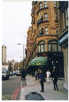 Harrods, London -- Had tea here with 2 wonderful friends and our children. Saw the Princess Diana exhibit inside also. Remember seeing a lovely dresser covered with tiles of china that was fabulous. The children loved the toy store area and the food section!