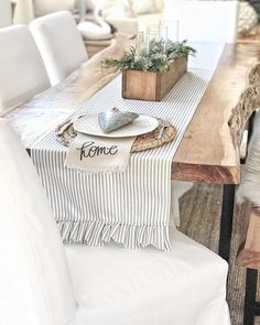 """Handmade linen lettered """"home"""" napkin by PCB Home 