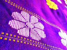 Kurta Fabric from Assam - Purple from Lal10.com