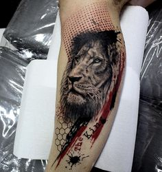 awesome 80 Awesome Lion Tattoo Designs - The Symbol of Glory and Power Check more at http://stylemann.com/best-lion-tattoo-designs/