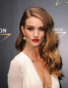 Side Parting Rosie Huntington-Whiteley