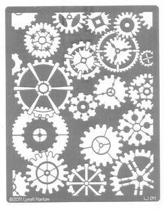 gears stencil