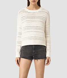 Womens River Sweater (Chalk White) - product_image_alt_text_1
