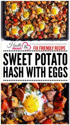 Recipe and photo credit: Beachbody BlogThis savory sheet pan sweet potato hash with eggs is fragrantly spiced with cumin, chili, and smoked paprika and t
