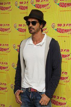 Arjun Rampal at Radio Mirchi studio to promote his film, D-Day. #Bollywood #Fashion