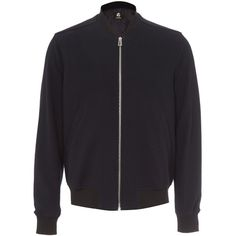 8de6424dee0 PS Navy Textured Bomber Jacket ( 510) ❤ liked on Polyvore featuring men s  fashion