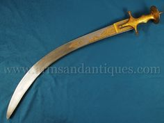 From the collection of Dr. Leo S. Figiel a Mughal tegha sword with a Damascus blade - Arms And Antiques Damascus Sword, Damascus Blade, Saints Vs, Indian Sword, Cool Swords, Swords And Daggers, Arm Armor, Zombie Apocalypse, Warfare