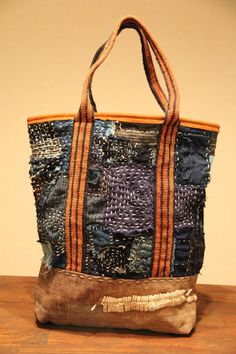 japanese boro sashiko bag by oldindustrial12 on Etsy