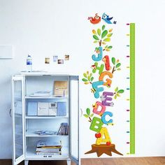 Kids Wall Stickers Removable Wall Stickers Home Decor Decal Mural Room Paper Height Chart Kids *** Continue to the product at the image link.