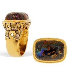 Alex Sepkus Yowah Nut Opal Garden Ring