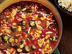 Crab and Vegetable Gumbo - Classic New Orleans Recipes - Cooking Light Mobile Seafood Recipes, Soup Recipes, Cooking Recipes, Gumbo Recipes, Dinner Recipes, Cooking Crab, Dinner Ideas, Oven Recipes, Vegetarian Cooking