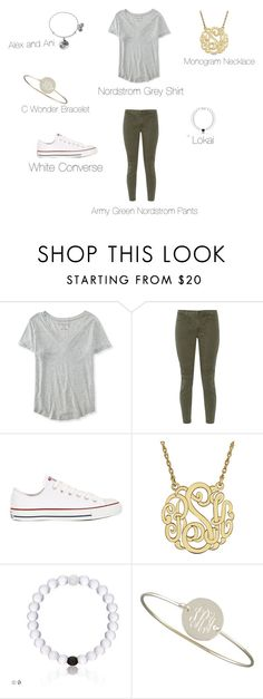 """""""OOTD of 2/3/16"""" by gianna1233 ❤ liked on Polyvore featuring Aéropostale, J Brand, Converse, Sarah Chloe and Alex and Ani"""