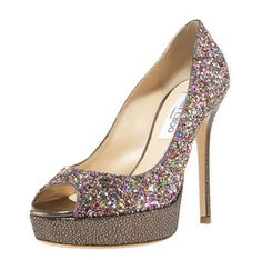 Jimmy Choo Crown Glitter Platform Pump perfect for the New Year's Eve Celebrations