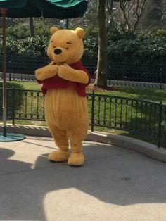 Winnie de Pooh in Disneyland Parijs