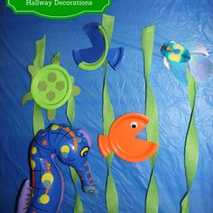 Submerged Hallway Decorations - Rebecca Autry Creations Need fantastic suggestions regarding arts and crafts? Go to my amazing website! Ocean Crafts, Vbs Crafts, Church Crafts, Vbs Themes, Ocean Themes, Bible School Crafts, Bible Crafts, Submerged Vbs, Vbs 2016