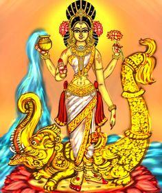 Saptha nadhi (seven holy Rivers of India ) goddess Devi ganga A art collab with Indian Gods, Indian Art, Raja Ravi Varma, Tanjore Painting, Divine Mother, Shiva Shakti, Hindu Deities, Princess Zelda, Amman
