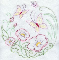 Butterfly Circle - Poppies (Vintage)