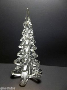 "Vintage Art Glass Christmas Tree 11"" GIANT Evergreen Tree 4 POUNDS"