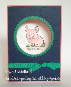 This a little Piggy, Stampin Up, Rachel woollard, watercolouring