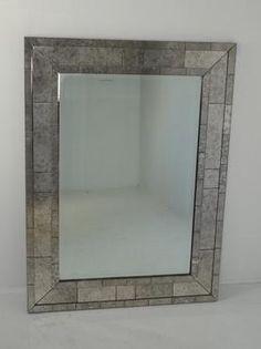 Kenneth Antiqued Brick Motif Mirror | Mecox Gardens