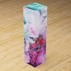watercolor artcolorful flowers wine gift box - rose style gifts diy customize special roses flowers