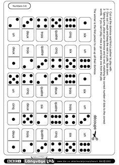 À télécharger: un jeu de domino pour travailler les nombres.