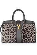 Yves Saint Laurent  Cabas Chyc Medium leopard-print calf hair and leather tote