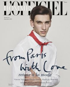 Hommes LOfficiel SEP 2015 - Thibaud Charon in Hermes