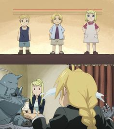 """I don't want to marry someone shorter than me."" - Winry (Ep 20)"