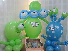 Monster Balloon ideas | Monster Centerpiece