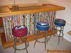 hockey stick bar and hockey bar stools