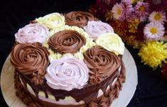 Tort cu trei tipuri de mousse Cupcake Recipes, Cupcake Cakes, Romanian Desserts, Let Them Eat Cake, Sweet Recipes, Caramel, Cake Decorating, Sweet Treats, Food And Drink