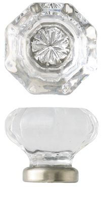 Clear Old Town Economy Knob, Medium