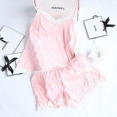 Women's Lace Pajama Set
