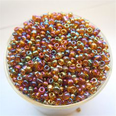 Popular Sale Bright Coffee AB Color 3000pcs 2mm Czech Glass Seed Spacer Beads Jewelry Making DIY Pick 46 Colors