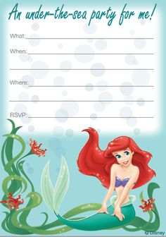 Free Printables For Disneys Animated Movie The Little Mermaid