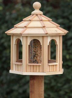 Simple Bird House Plans Best Of Cedar Bird Feeder Gazebo 8 Sided Octagon Wood Bird Feeder, Bird Feeder Plans, Bird House Feeder, Bird Feeders, Wooden Bird Houses, Bird Houses Diy, Bird House Plans, Bird House Kits, Bird Tables