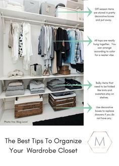 the best tips and ideas on how to organize your closet.