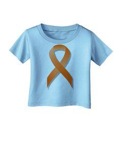 TooLoud Leukemia Awareness Ribbon - Orange Infant T-Shirt
