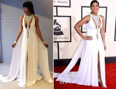 Toni Braxton attended the 2015 Grammy Awards on Sunday (February 8) held at the Staples Center in Los Angeles, California. The singer wore a Marc Bouwer Fa