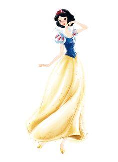 Snow White Disney Princess Watercolors by Jenny Chung, via Behance