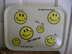 Cute smiley face tray.