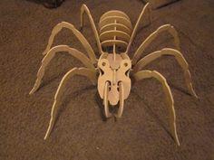 Araña 3D Puzzle DXF | CNC Artisan
