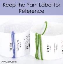 Tuesday's Tip – Keep the Yarn Label for Reference