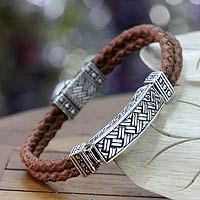 MENS LEATHER BRACELETS - Leather Bracelets for Men at NOVICA
