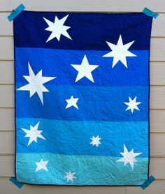 "Cute ""Astronomical Twilight"" quilt by Sabrina Krueger of Sabie Sews."